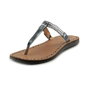 UGG Bria Metallic Leather Braided Thong Sandals